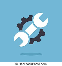 réparation, icon., vecteur, graphique, logo