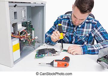 réparation, informatique, unité centrale traitement,...