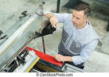 réparation, machine, usine, ingénieur