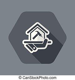 réparation maison, icône