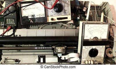 réparation, modèle, imprimante, démodé