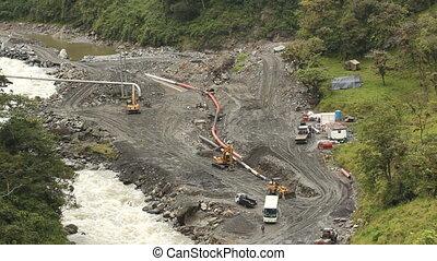 réparation, pipeline, huile, ec