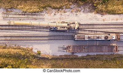 réparation, pistes, rail, process., railway., entretien