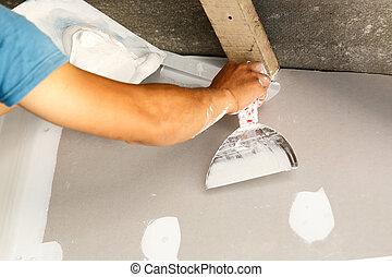 réparation, plafond, rénover, maison