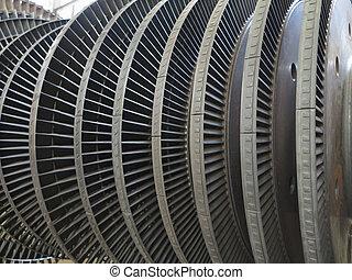 réparation, plante, alimentez générateur, pendant, turbine, vapeur