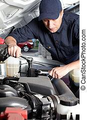 réparation, service., fonctionnement, mécaniquede l'auto, voiture