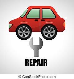réparation, service voiture