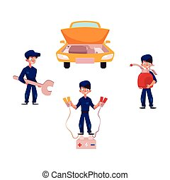 réparation, service, voiture, entretien, mécaniquede l'auto