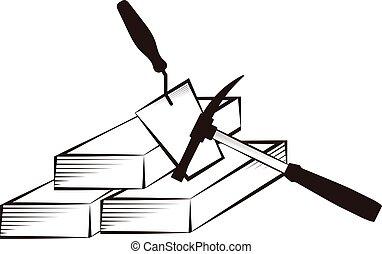réparation, symbole, construction