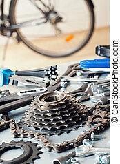 réparation, vélo