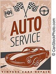réparation voiture, affiche