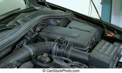 réparation, voltmètre, voiture, checking.