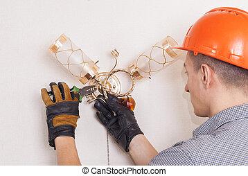 réparations, électrique, sconce