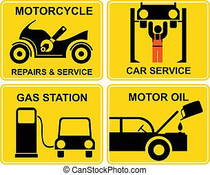 réparations, autoservice, motocyclette