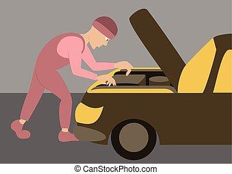 réparations, mécanicien, automobile