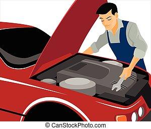 réparations, mécanicien, moteur