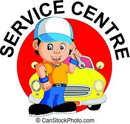 réparations, mécanicien, voiture