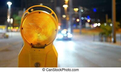 réparations, rue, trafic, route