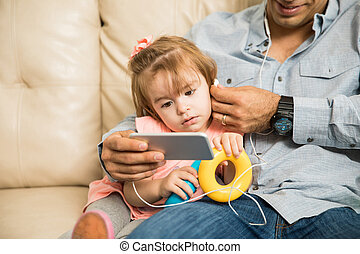 répondre, vidéo, elle, père, appeler, giirl
