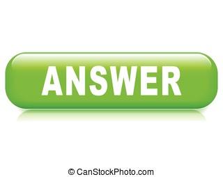 réponse, bouton, fond blanc