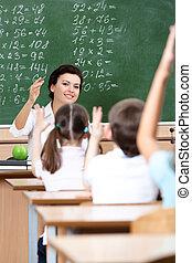 réponse, prof, question, élèves, chooses