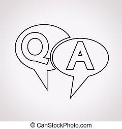 réponse, symbole, q&a, icône