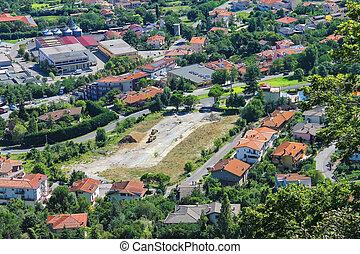 république, construction, village., site, pittoresque, sommes