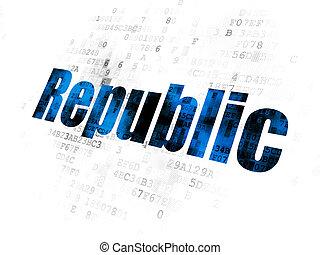 république, politique, concept:, fond, numérique
