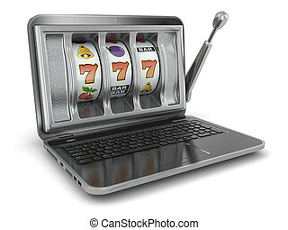 rés, concept., gép, online, hazárdjáték, laptop