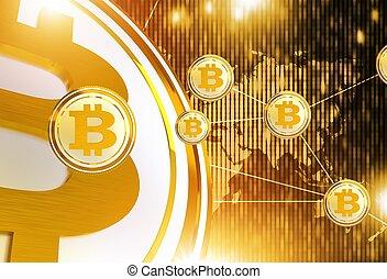 réseau, bitcoin, commerce