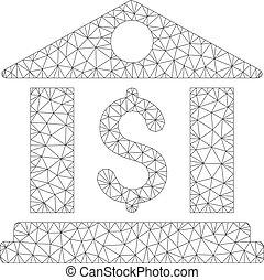 réseau, bureau, maille, vecteur, modèle, banque