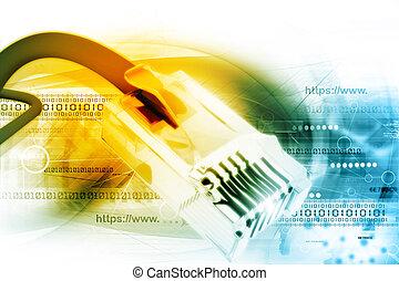 réseau, câble