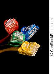 réseau, cables.
