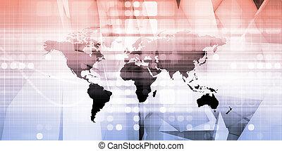réseau, chaîne, fourniture