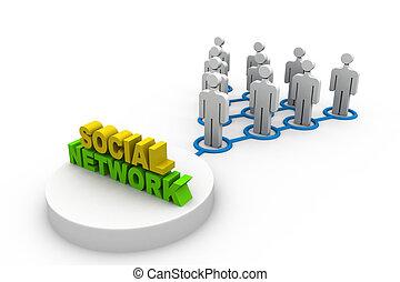 réseau, communauté, social, concept
