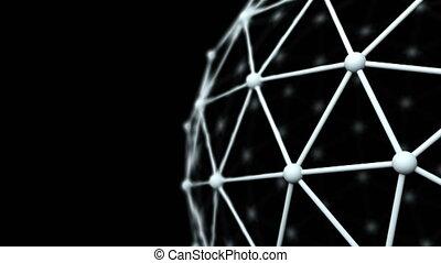 réseau, concept affaires, science, modèle, haut, surface, ...