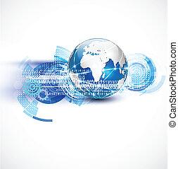 réseau, concept, communication, vecteur, mondiale, technologie