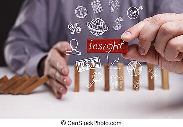 réseau, concept., perspicacité, jeune, business, internet, ...