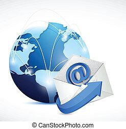 réseau, contact, communication, nous