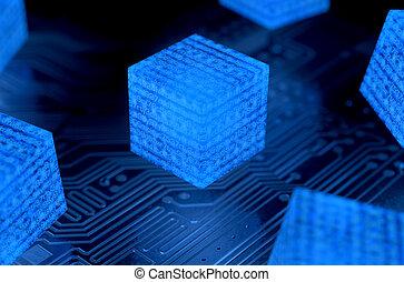 réseau, données, blockchain