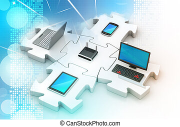 réseau, et, internet, communication