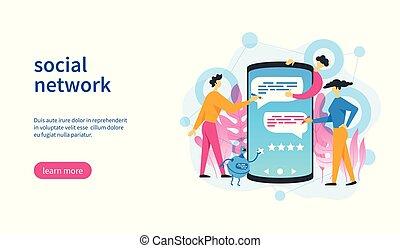 réseau, gabarit, social