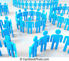 réseau, groupes, moyens, communications globales, et, communiquer
