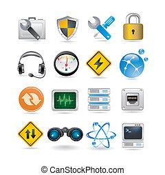 réseau, icônes