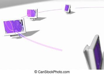 réseau, informatique, connexion