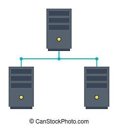 réseau informatique, icône