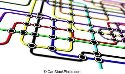 réseau, métro, gens, connexions