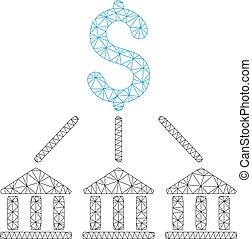 réseau, maille, vecteur, banque, modèle, association