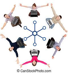 réseau, membres, social