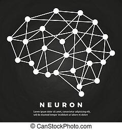 réseau, neural, affiche, résumé, cerveau, conception